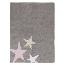 Handgetufteter Teppich Tres Estrellas in Grau