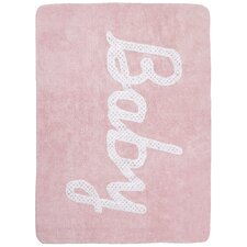 Handgetufteter Teppich Baby Petit Point in Rosa