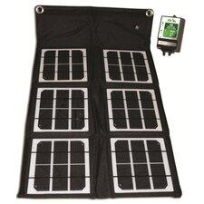 18-Watt Solar Folding Monocrystalline Solar Panel with Charge Controller