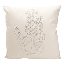 Auron French Words Cotton Throw Pillow