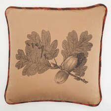 Large Oak Leaf Down Throw Pillow