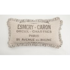 French Words Small Skinny Down Lumbar Pillow