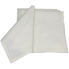 Grapes and Leaves Embroidered Cutwork Napkin (Set of 4)