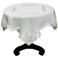 Grapes and Leaves Embroidered Cutwork Table Topper