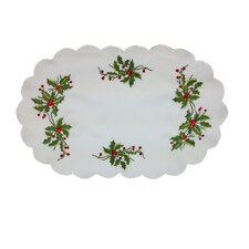 Mistletoe Embroidered Placemat (Set of 4)