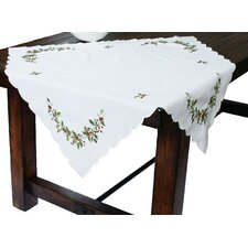 Mistletoe Embroidered Table Topper