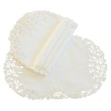 Arietta Embroidered Cutwork Tray Cloth (Set of 4)