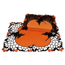 Witch Embroidered Cutwork Halloween Placemat (Set of 4)