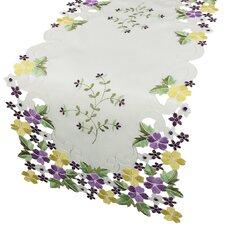 Fancy Flowers Table Runner