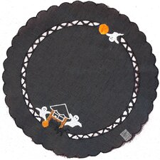 Haunted House Embroidered Cutwork Round Placemat (Set of 4)
