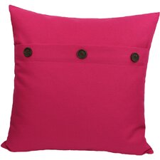 Solid Button Throw Pillow