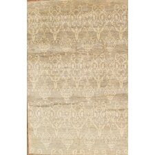 Ikat Decorative Hand-Knotted Wool Area Rug