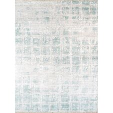 Hand-Knotted Bamboo Silk Area Rug