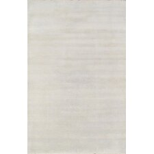 Hand-Knotted Wool and Bamboo Silk Light Blue Area Rug