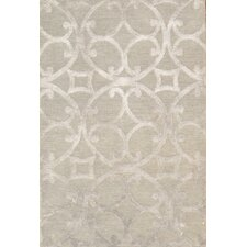 Modern Hand-Knotted Mint Area Rug