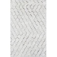 Hand-Loomed Silver Area Rug