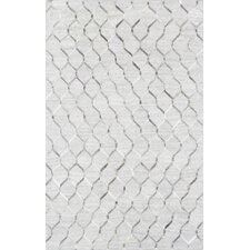 Hand-Loomed Silver Area Rug