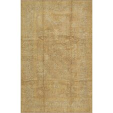 Oushak Hand-Knotted Light Brown Area Rug