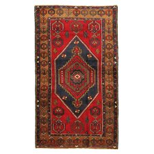 Kilim Hand-Woven Red Wool Area Rug