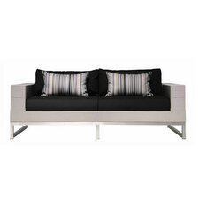 Quilt Sofa 2-Seater Sofa with Cushion