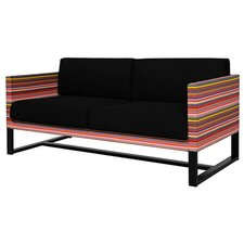 Stripe 2-Seater Sofa with Cushion