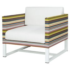 Stripe Arm Chair with Cushion