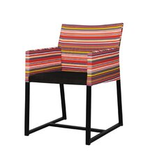 Stripe Dining Arm Chair with Cushion