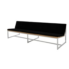 Oko Teak / Stainless Steel Bench with Cushions