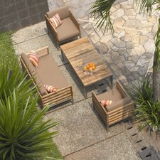 Bogard 4 Piece Deep Seating Group with Cushions