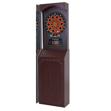 Cricket Pro 800 Electronic Dartboard Game with Arcade Style Cabinet