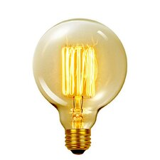 Vintage Edison 60 Watt (2700K) G40 Vanity Tungsten Incandescent Filament Light Bulb