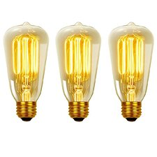 Vintage Edison 40 Watt (2700K) S60 Squirrel Cage Incandescent Filament Light Bulb
