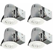 "LED IC Rated Swivel Spotlight 3"" Recessed Kit (Set of 4)"