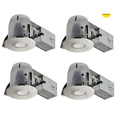 "LED IC Rated Swivel Spotlight 4"" Recessed Kit (Set of 4)"