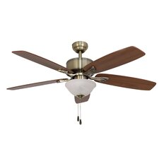 """52"""" Northport Bowl Light 5 Blade Ceiling Fan"""