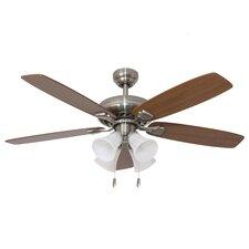 """52"""" Rialto 4 Light 5 Blade Ceiling Fan"""