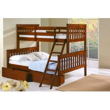 Donco Kids Twin over Full Futon Bunk Bed with Storage