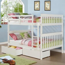 Mission Full over Full Bunk Bed with Storage