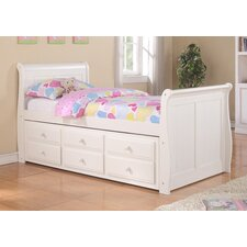 Donco Kids Sleigh Bed with Trundle and Storage