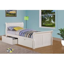 Sleigh Bed with Storage