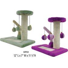 2 Piece Kitty Activity Center Sisal Scratching Post Set
