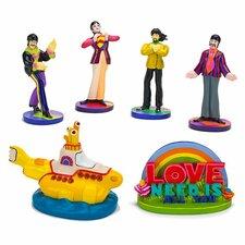 The Beatles 6 Piece Ornament Set