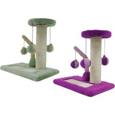2 Piece Kitty Activity Center Sisal Scratching Post Set