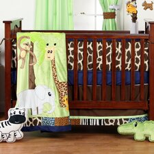 Jazzie Jungle Infant 3 Piece Crib Bedding Set