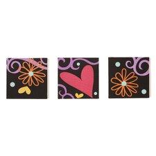 3 Piece Sassy Shaylee Canvas Art Set