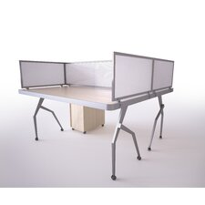 Polycarbonate Desk Mounted Privacy Panel
