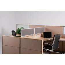 "18"" Cubicle Mounted Privacy Panel with Small Brackets"