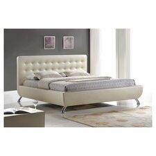 Baxton Studio Elizabeth Pearlized Almond Panel Bed