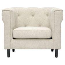 Baxton Studio Cortland Club Chair in Beige