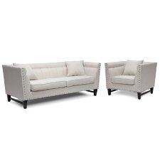 Baxton Studio Stapleton Modern Sofa and Chair Set